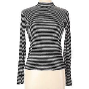 Zara Trafaluc Long Sleeve T Shirt Mock Turtle Neck